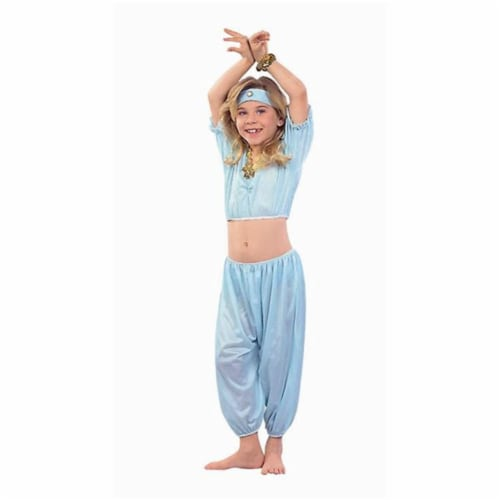 RG Costumes 91088-M Harem Girl Costume - Teal - Size Child-Medium Perspective: front