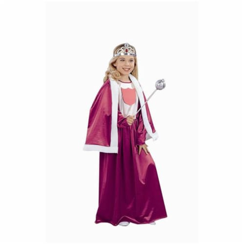 RG Costumes 91154-M Royal Queen Burgundy Costume - Size Child-Medium Perspective: front