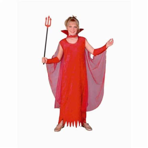 RG Costumes 91170-M Glamour Devil Girl Costume - Size Child-Medium Perspective: front