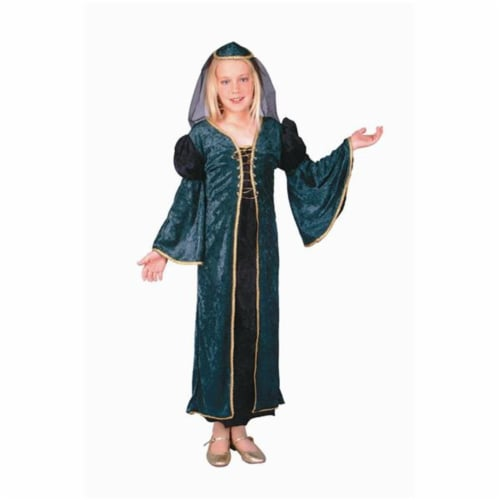 RG Costumes 91223-M Green Velvet Juliet Costume - Size Child-Medium Perspective: front