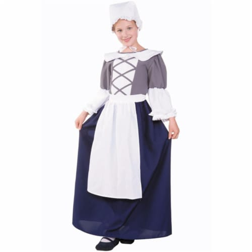 RG Costumes 91230-M Medium Child Colonial Peasant Girl Costume Perspective: front