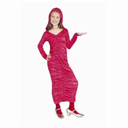 RG Costumes 91297-M Red Gothic Dress With Hood Costume - Size Child-Medium Perspective: front