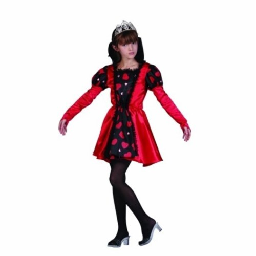 RG Costumes 91343-M Queen Of Hearts Red Costume - Size Child Medium 8-10 Perspective: front