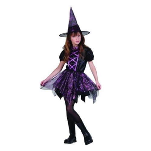 RG Costumes 91416-M Glitter Spider Witch Costume - Size Child Medium 8-10 Perspective: front