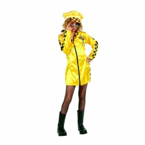 RG Costumes 91420-M Speedster Costume - Yellow - Size Preteen Medium 14-16 Perspective: front