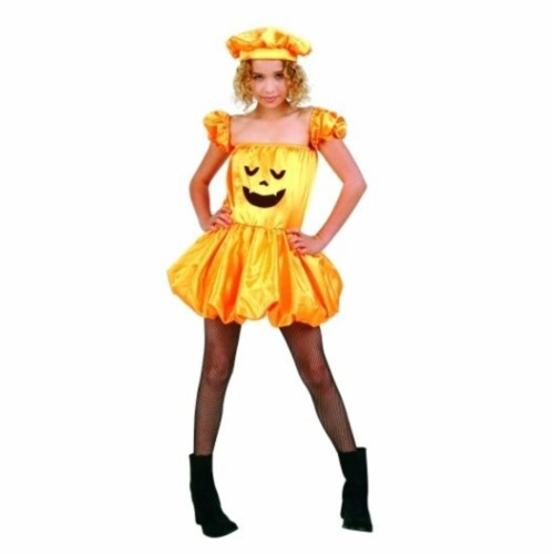 RG Costumes 91443-M Pumpkin Puff Costume - Size Child Medium 8-10 Perspective: front