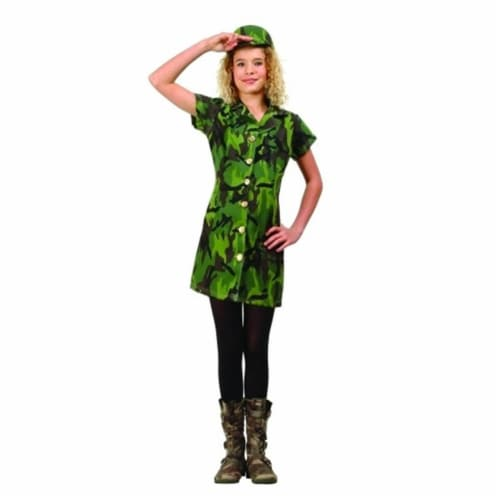 RG Costumes 91462-M Camouflage Soldier Costume - Size Preteen Medium 14-16 Perspective: front