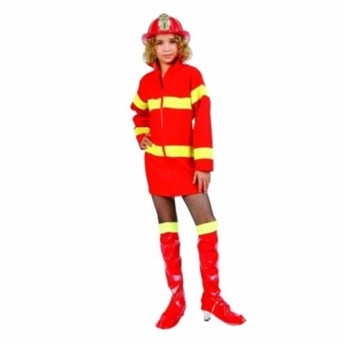 RG Costumes 91490-M Fire Fighter Costume - Size Child Medium 8-10 Perspective: front