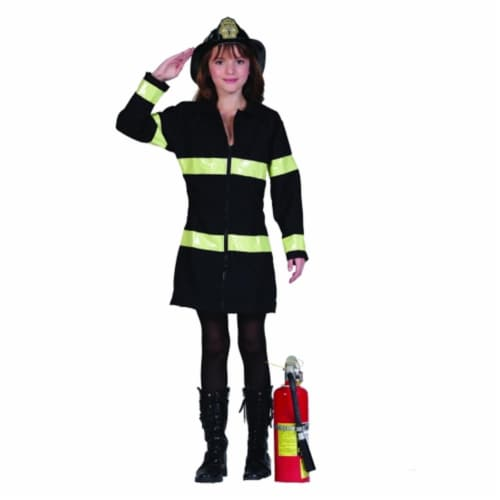 RG Costumes 91491-M Fire Heroine Girl Costume - Size Child-Medium Perspective: front