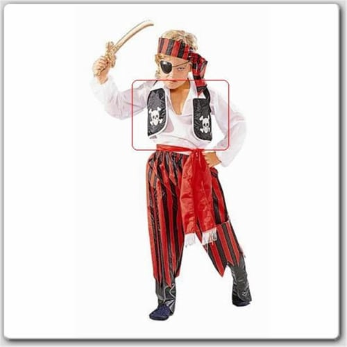 RG Costumes 65027-S Pirate Costume Vest - Size Child-Small Perspective: front