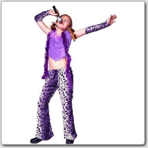 RG Costumes 19192-L Rock Star - Purple Pants Costume - Size - Child-Large Perspective: front