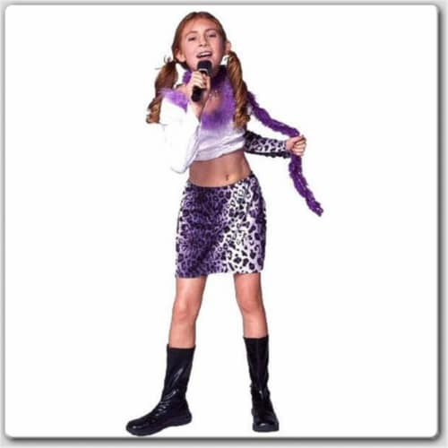 RG Costumes 19194-L Rock Star - Purple Skirt Costume - Size Child-Large Perspective: front