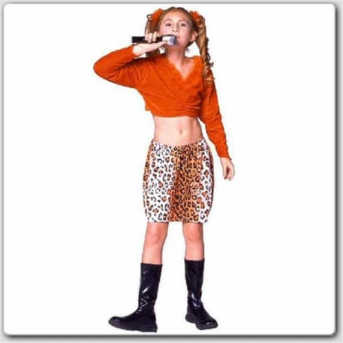 RG Costumes 19196-L Rock Star - Brown Skirt Costume - Size Child-Large Perspective: front