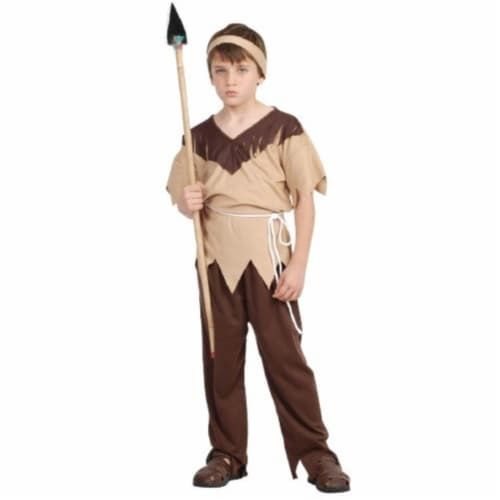Rg Costumes 29042-M Boys Native American Brave Costume - Taupe- Medium Perspective: front