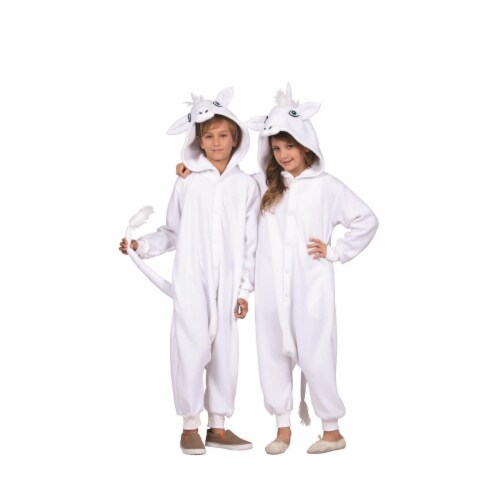 RG Costumes 40180 Una White Unicorn Child  Costume - Large Perspective: front