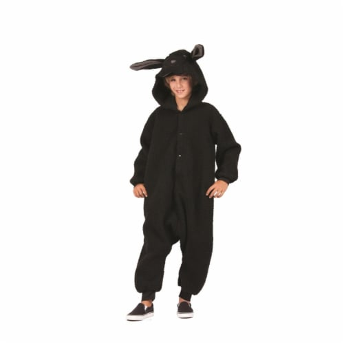 RG Costumes 40186 Wooly Black Sheep Child  Costume - Large Perspective: front