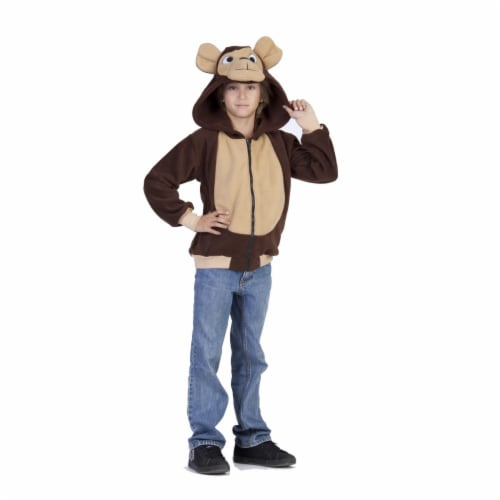 RG Costumes 40520-L Morgan Monkey Hoodie Child Costume, Large Perspective: front