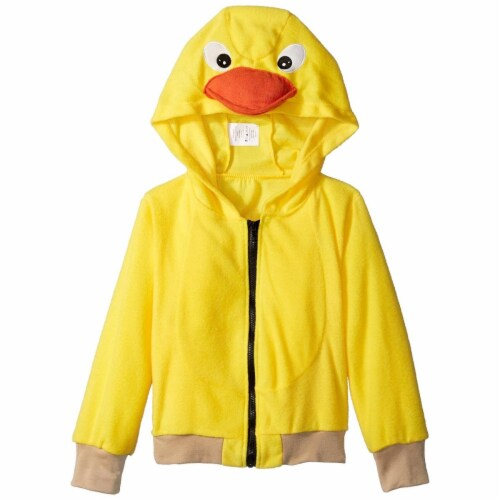 RG Costumes 40531-L Tub Time Ducky Child Hoodie Costume, Large - Yellow Perspective: front