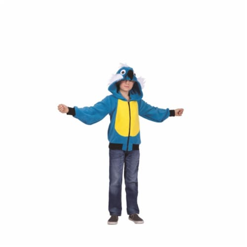 Rg Costumes 40541-L Pepper Parrot Child Hoodie Costume - Blue & Yellow, Large Perspective: front