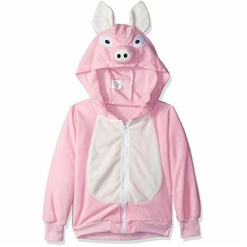 Rg Costumes 40518-M Penelope Pig Child Hoodie Costume - Pink, Medium Perspective: front
