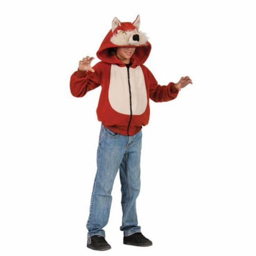 Rg Costumes 40533-M Child Wild Fox Hoodie Costume - Red, Medium Perspective: front