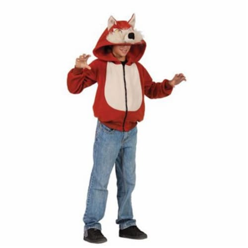 RG Costumes 40533-S Wild Fox Child Hoodie Costume, Small - Red Perspective: front