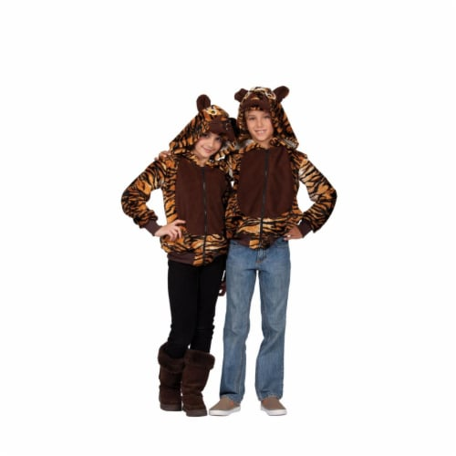Rg Costumes 40574-S Taylor Tiger Hoodie Child Costume - Brown, Small Perspective: front