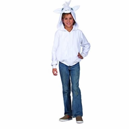 RG Costumes 40580-S Una White Unicorn Child Hoodie, Small Perspective: front