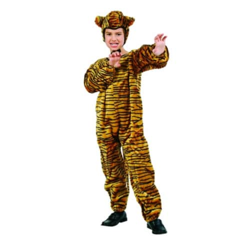 RG Costumes 70074-T Tiger Jumpsuit Costume - Size Toddler Perspective: front