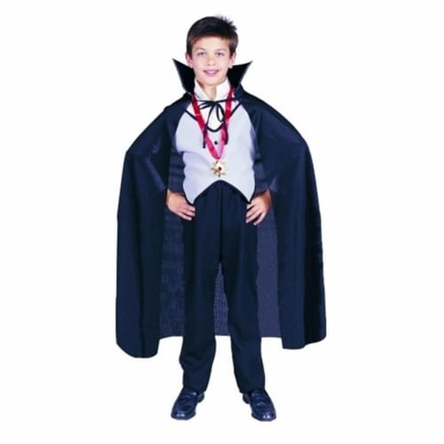 RG Costumes 75008 Black Taffeta Childs Costume Cape - 36 Inches Perspective: front