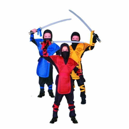RG Costumes 90005-R-L Dragon Ninja Master - Red Costume - Size Child-Large Perspective: front