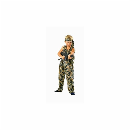 RG Costumes 90008-L Jungle Fighter Costume - Size Child-Large Perspective: front