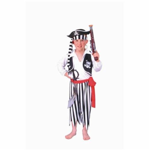 RG Costumes 90009-L Pirate Boy White-Black Pants Costume - Size Child-Large Perspective: front