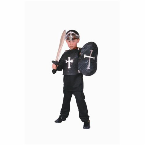 RG Costumes 90021-L Black Knight Costume - Size Child-Large Perspective: front
