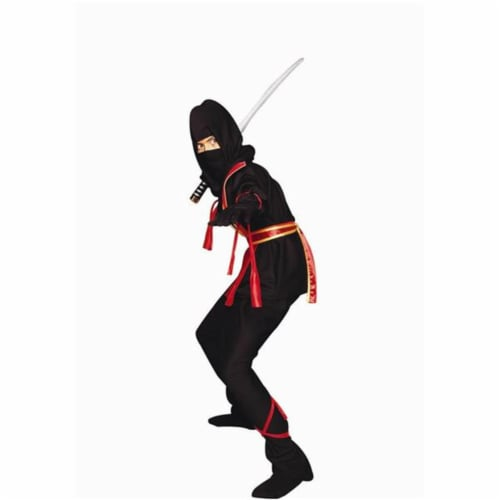 RG Costumes 90139-R-L Ninja Master - Red Costume - Size Child-Large Perspective: front