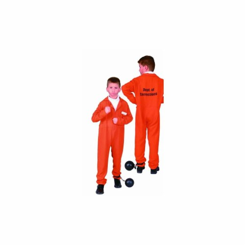 RG Costumes 90108-L Escaped Convict Costume - Size Child-Large Perspective: front