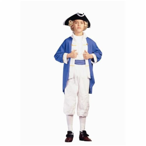 RG Costumes 90133-BL-L Colonial Captain - Blue Costume - Size Child-Large Perspective: front