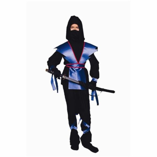 RG Costumes 90139-BL-L Ninja Master - Blue Costume - Size Child-Large Perspective: front