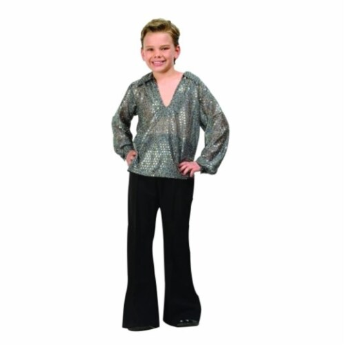 RG Costumes 90171-L Disco Boy Costume - Silver - Size Child Large 12-14 Perspective: front