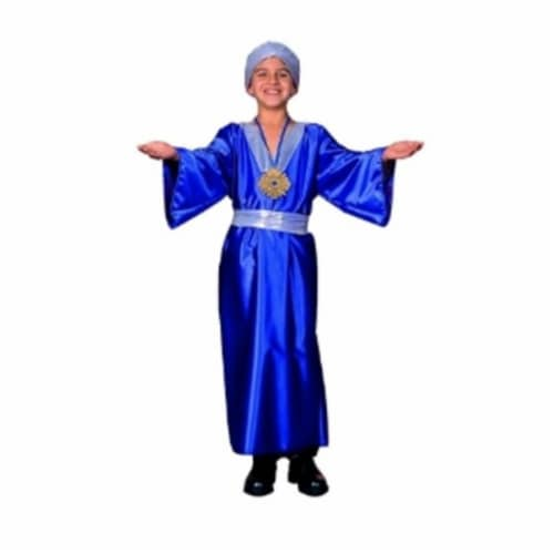 RG Costumes 90182-L Wiseman Costume - Blue - Size Child Large 12-14 Perspective: front
