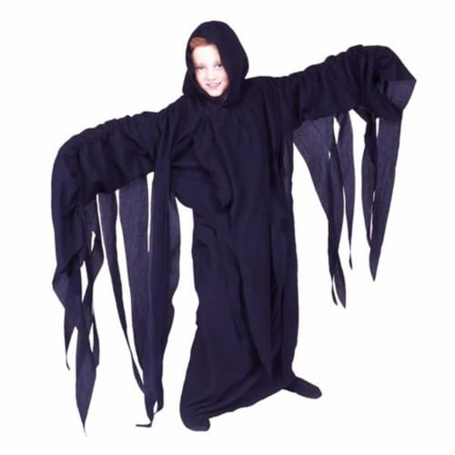 RG Costumes 90204-L Thrilling Ghoul Black Costume - Size Child-Large Perspective: front