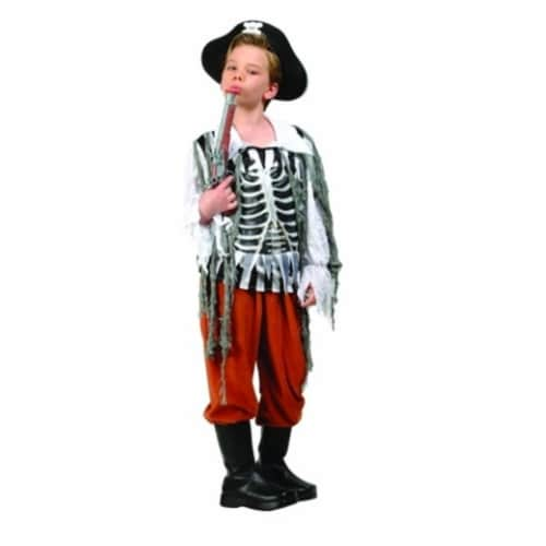 RG Costumes 90215-L Skull Pirate Child Costume - Size L Perspective: front