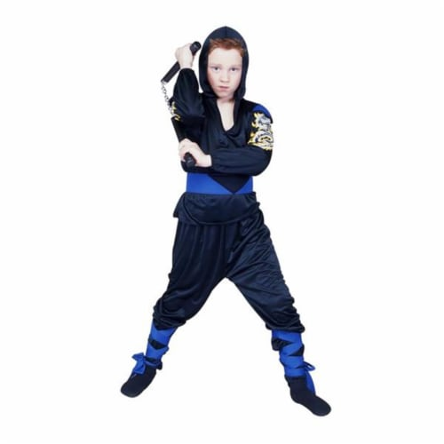 RG Costumes 90239BL-L Dragon Master Blue Costume - Size Child-Large Perspective: front