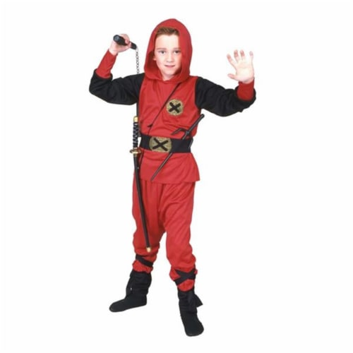 RG Costumes 90242-L Red Ninja Ranger Costume - Size Child-Large Perspective: front