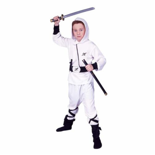 RG Costumes 90243-L White Ninja Ranger Costume - Size Child-Large Perspective: front