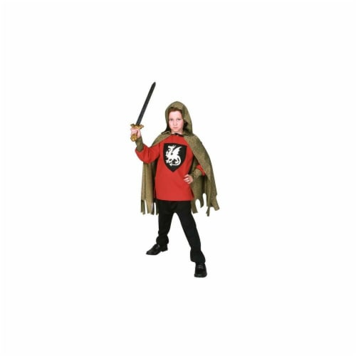 RG Costumes 90248-BL-L Blue Medieval Knight Costume - Size Child-Large Perspective: front