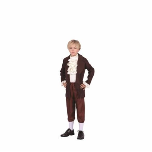 RG Costumes 90316-L Thomas Jefferson Child Costume, Large - Brown & Beige Perspective: front