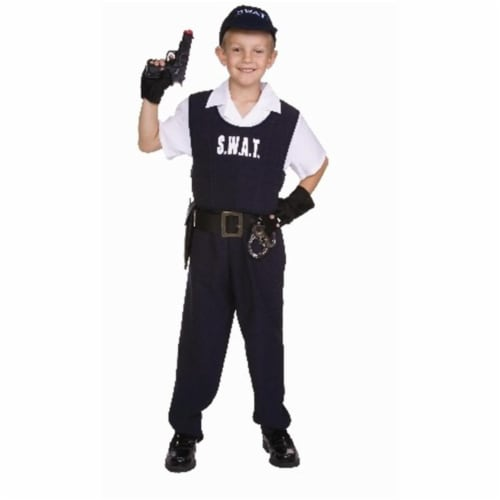 RG Costumes 90346-L Child SWAT Costume - Size L Perspective: front