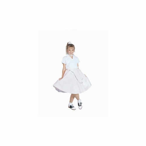 RG Costumes 91138-R-L Red Poodle Skirt With Shirt Costume - Size Child-Large Perspective: front