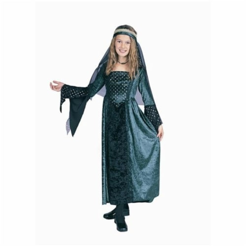RG Costumes 91162-L Renaissance Girl Green Costume - Size Child-Large Perspective: front